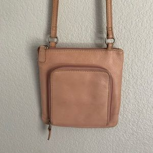 Fossil | Vintage pink leather cross body front